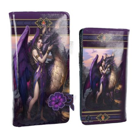 Nemesis Now James Ryman Dragon Sanctuary Embossed Purse Purple 18.5cm